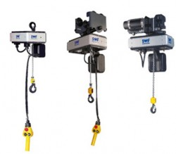 Chain hoists with electric drive